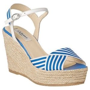 L.K. Bennett Connie Canvas Espadrille Wedge Heel